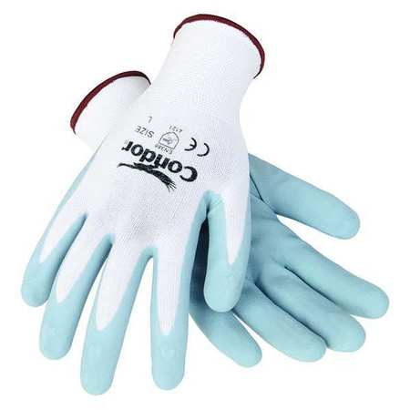 Coated Gloves, 2XL, Gray/White, PR
