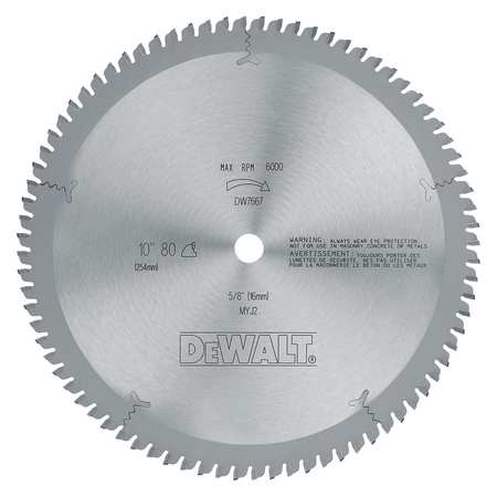 Circular Saw Bld, Carbide, 10 In, 80 Teeth