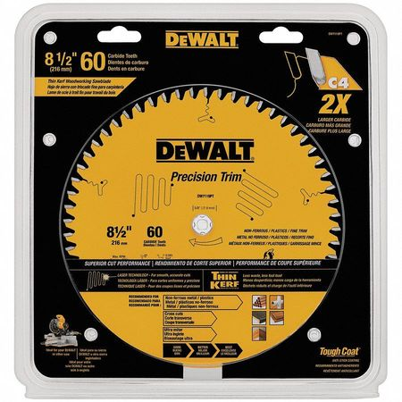 Circular Saw Blade, 8-1/2 In, 60 Teeth