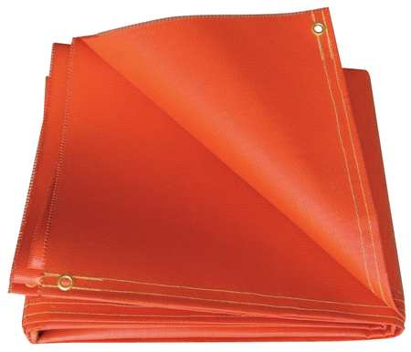 Welding Blanket, 6 ft. W, 8 ft., Red
