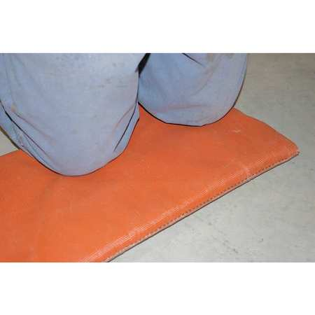 Welding Pad, 3 ft. W, 3 ft., 1 in., Red