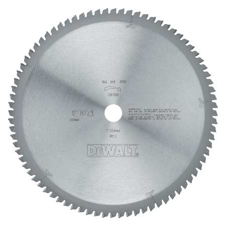 Circular Saw Blade, Steel, 12 In, 80 Teeth