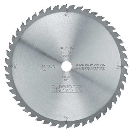 Circular Saw Bld, Steel, 12 In, 48 Teeth