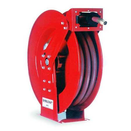 "3/4"" x 50 ft. Spring Return Hose Reel with Hose 250 psi"