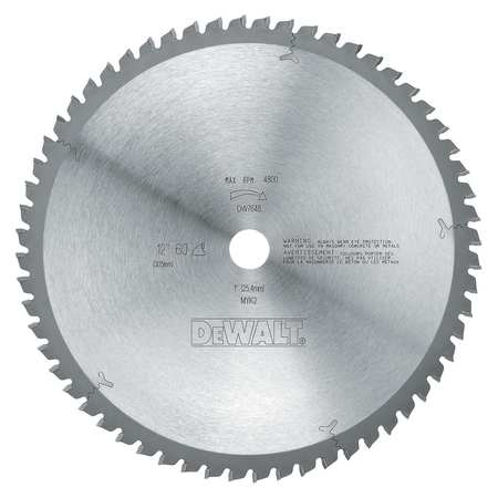 Circular Saw Bld, Steel, 12 In, 60 Teeth