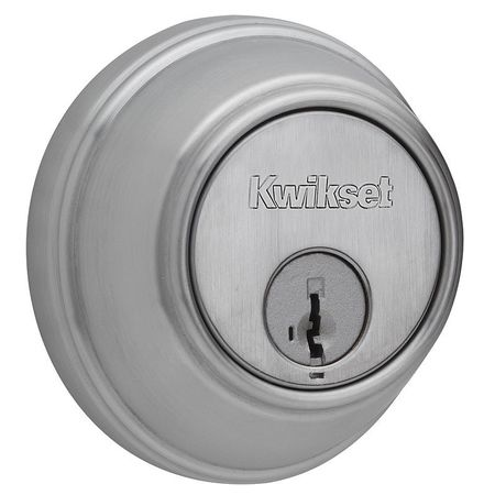 Key Control Deadbolt, Satin Chrome