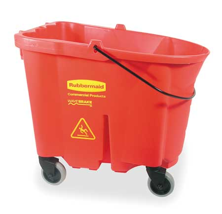 Mop Bucket, 8.75 gal., Red