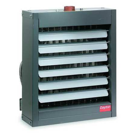 "Hydronic Unit Heater, 18"" H, 450 cfm"