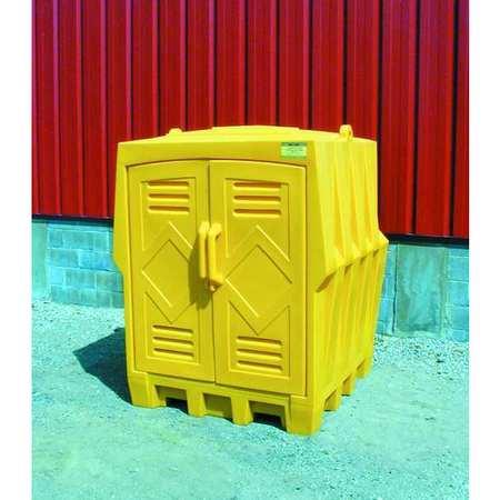 Covrd Drum Spll Cntnmnt Hut, Dbl Doors