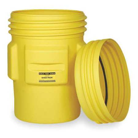 Overpack Drum, Open Head, 65 gal., Yellow