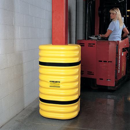 Column Protector, For 10 In Column, Yellow