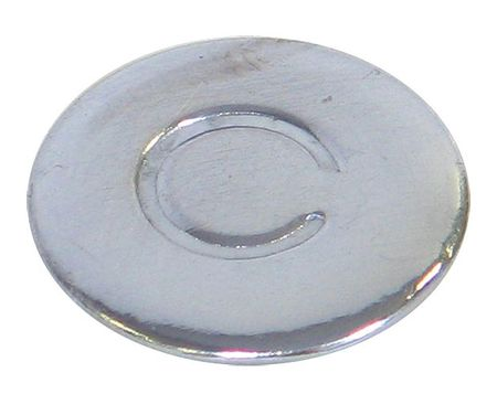 "Cold Water Index Button,  13/16"",  Plastic"