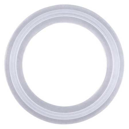 Gasket, Size 1 1/2 In, Tri-Clamp, Silicone