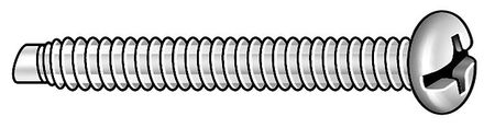 #10-32 x Pan Head Combination Slotted/Phillips Pilot Point Machine Screw,  5 pk.