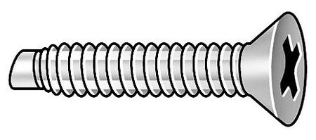 #6-32 x Flat Head Phillips Pilot Point Machine Screw,  5 pk.