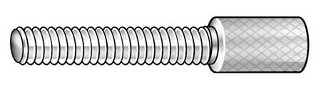 "Thumb Screw,  Knurled,  10-24 x 1"" L,  18-8 ss"