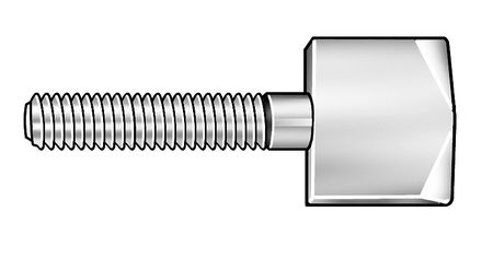 Thumb Screw, Knurled, 10-24x1 L, Stl