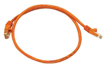 Ethernet Cable, Cat 5e, Orange, 2 ft.