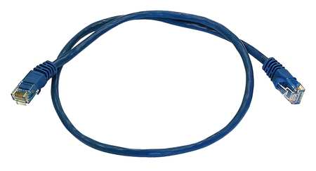 Ethernet Cable, Cat 5e, Blue, 2 ft.