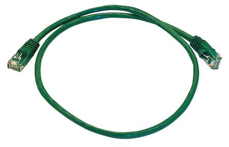 Ethernet Cable, Cat 5e, Green, 2 ft.