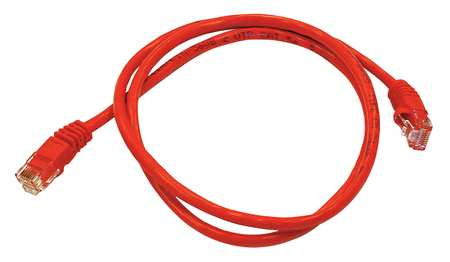 Ethernet Cable, Cat 5e, Red, 3 ft.