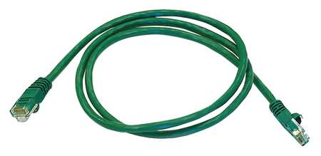 Ethernet Cable, Cat 5e, Green, 3 ft.