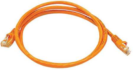 Ethernet Cable, Cat 5e, Orange, 3 ft.