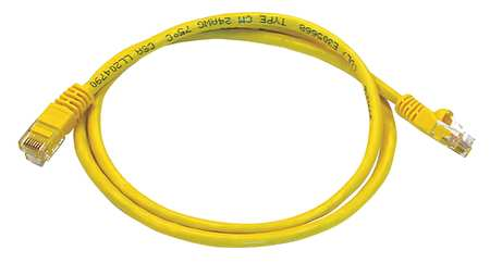 Ethernet Cable, Cat 5e, Yellow, 3 ft.