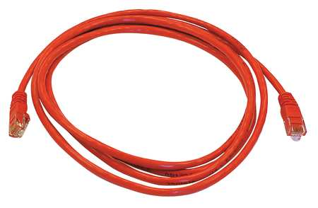 Ethernet Cable, Cat 5e, Red, 7 ft.