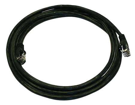 Ethernet Cable, Cat 5e, Black, 7 ft.