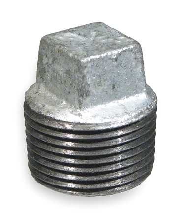 "1/2"" MNPT Galvanized Square Head Plug"