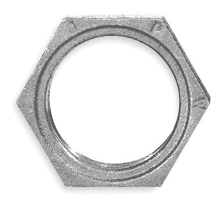 "1/4"" FNPT Galvanized Hex Locknut"