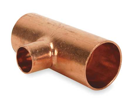 "2-1/2"" x 2-1/2"" x 1"" NOM C Copper Reducing Tee"