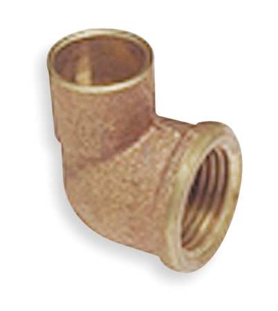 "1/2"" NOM C x 1/2"" FNPT Copper 90 Degree Elbow"