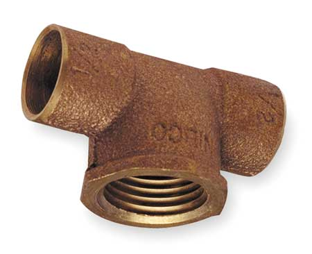Tee, Low Lead Cast Bronze, C x C x FNPT
