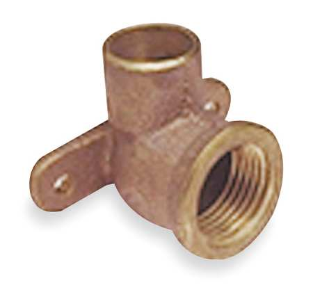 "1/2"" NOM C x 1/2"" FNPT Copper 90 Degree Drop Ear Elbow"