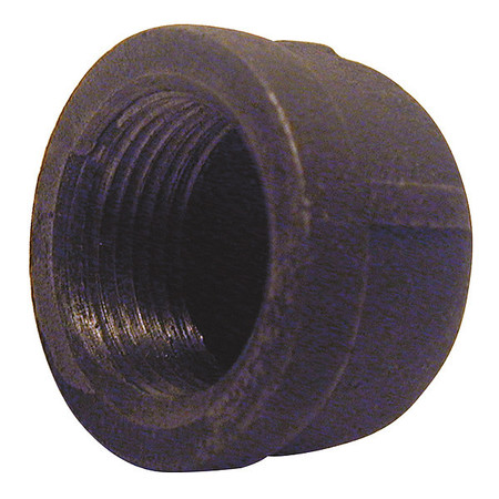 "1-1/4"" FNPT Black Malleable Iron Cap"