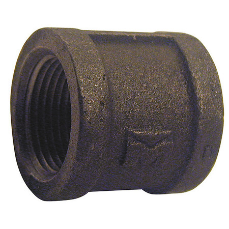"1/8"" FNPT Black Malleable Iron Coupling"