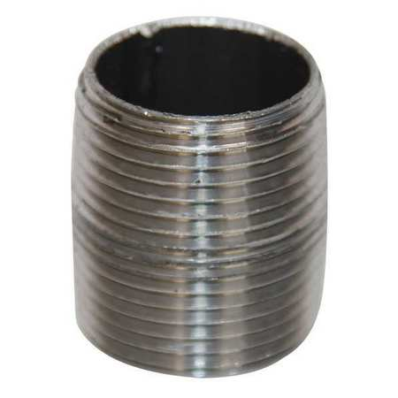 "2"" NPT Threaded Black Close Pipe Nipple Sch 40"