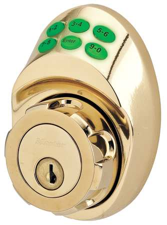 Lock and Deadbolt, Brass, 6 Button