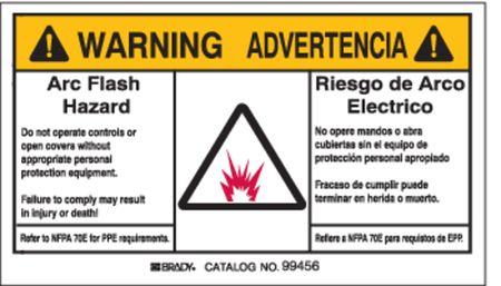 Arc Flash Protection Label, PK5