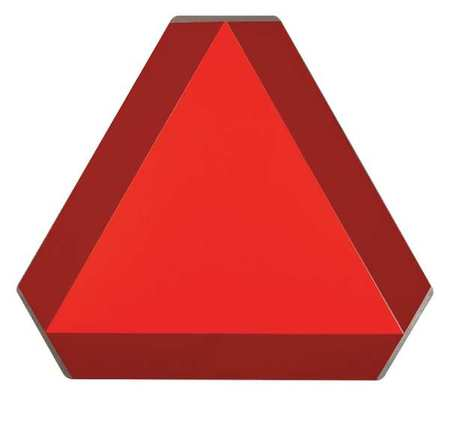 Slow Moving Vehicle Sign, 14 x 16In, ORN/R
