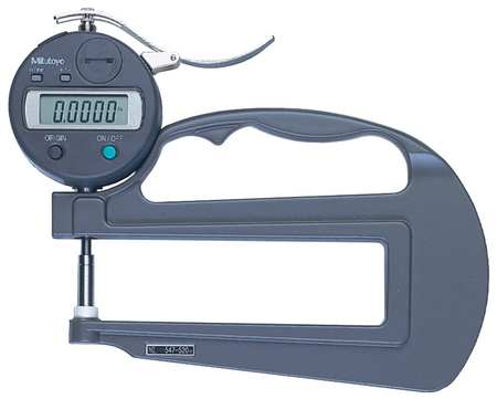 Digital Thickness Gage, 0 to 0.470In