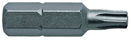 "Torsion Bit, SAE, 1/4"", Hex, T15, 1"", PK5"