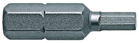 "Torsion Bit, SAE, 1/4"", Hex, 7/64"", 1"", PK5"