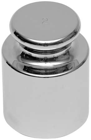 Calibration Weight, 2g, Stainless Steel