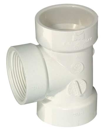 "1-1/2"" FNPT x Hub x Hub PVC DWV Flush Clean Out Tee"