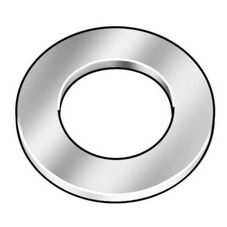 "#2 x 3/16"" OD Plain Finish Low Carbon Steel SAE Type A Narrow Flat Washers,  100 pk."