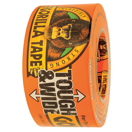 Duct Tape, 2.88 In x 30 yd, 17 mil, Black