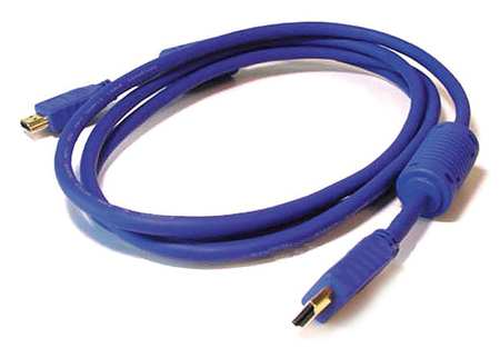 HDMI Cable, Std Speed, Purple, 3ft, 28AWG